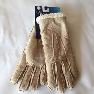 Isotoner Women's Microsuede Sherpa Lined Gloves